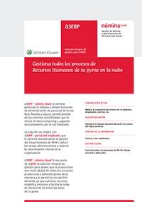 Ficha de producto de a3nómina cloud