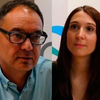 Arturo Pousa (Gerente de Compensación & Beneficios y Organización) e Inés Moríñígo (Coordinadora de Administración de Personal)