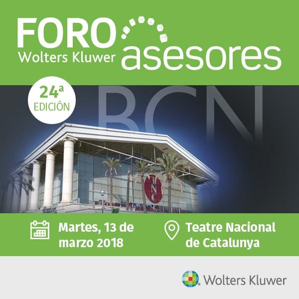 Llega el 24º Foro Asesores Wolters Kluwer, el 13 de marzo en Barcelona, para seguir impulsando la evolución hacia el Despacho 4.0